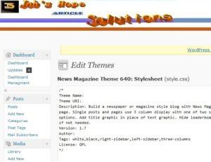 Unique WordPress Creation